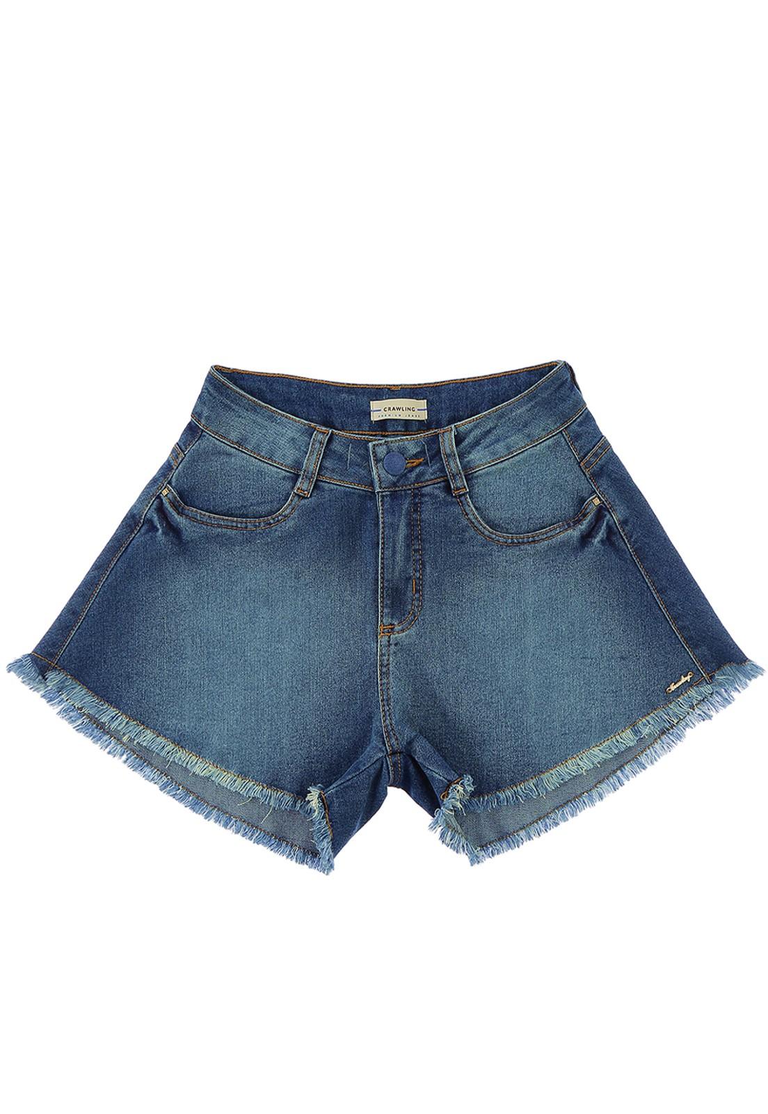 Short Godê Jeans Feminino