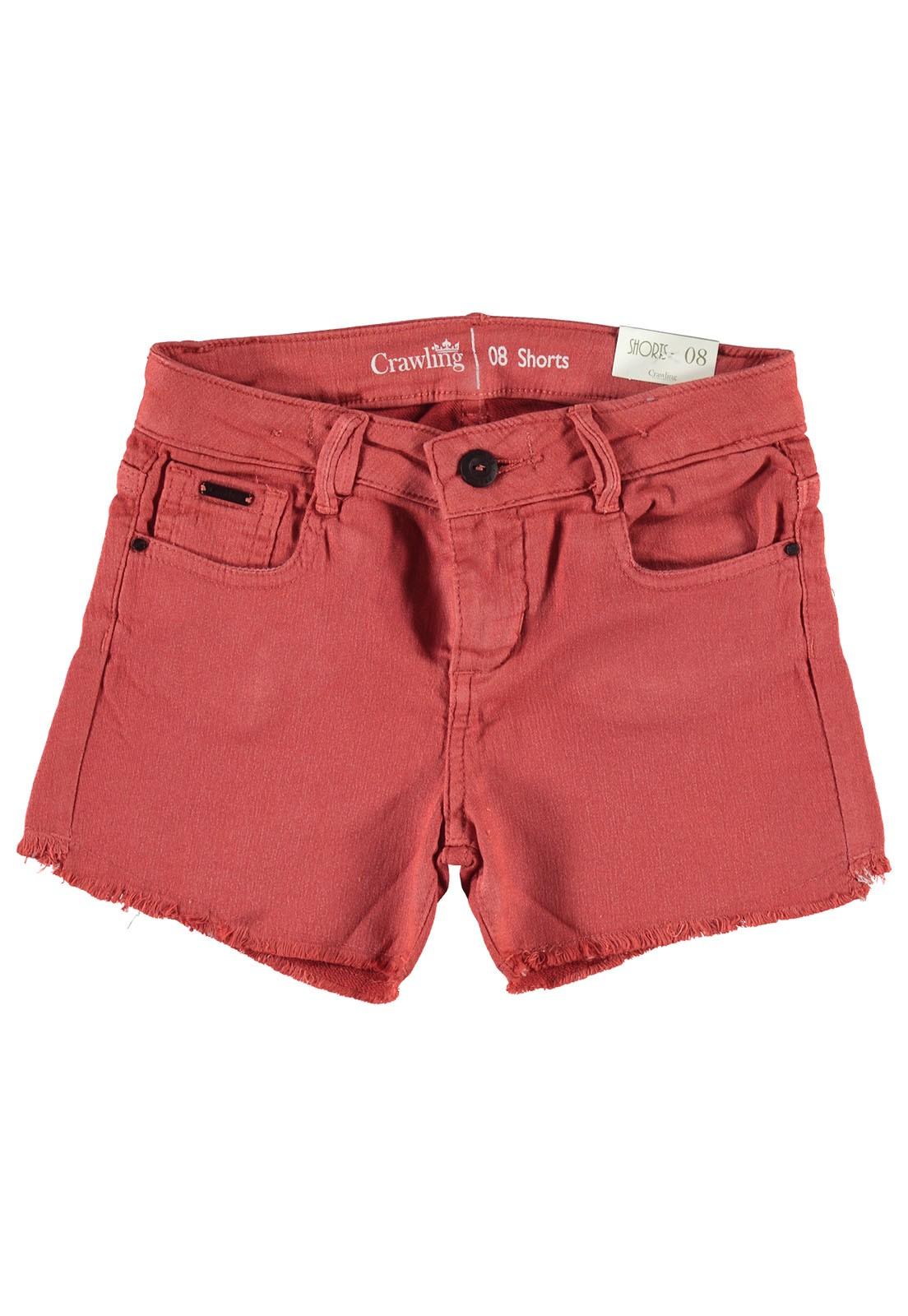 Shorts Feminino Crawling Sarja Moletom