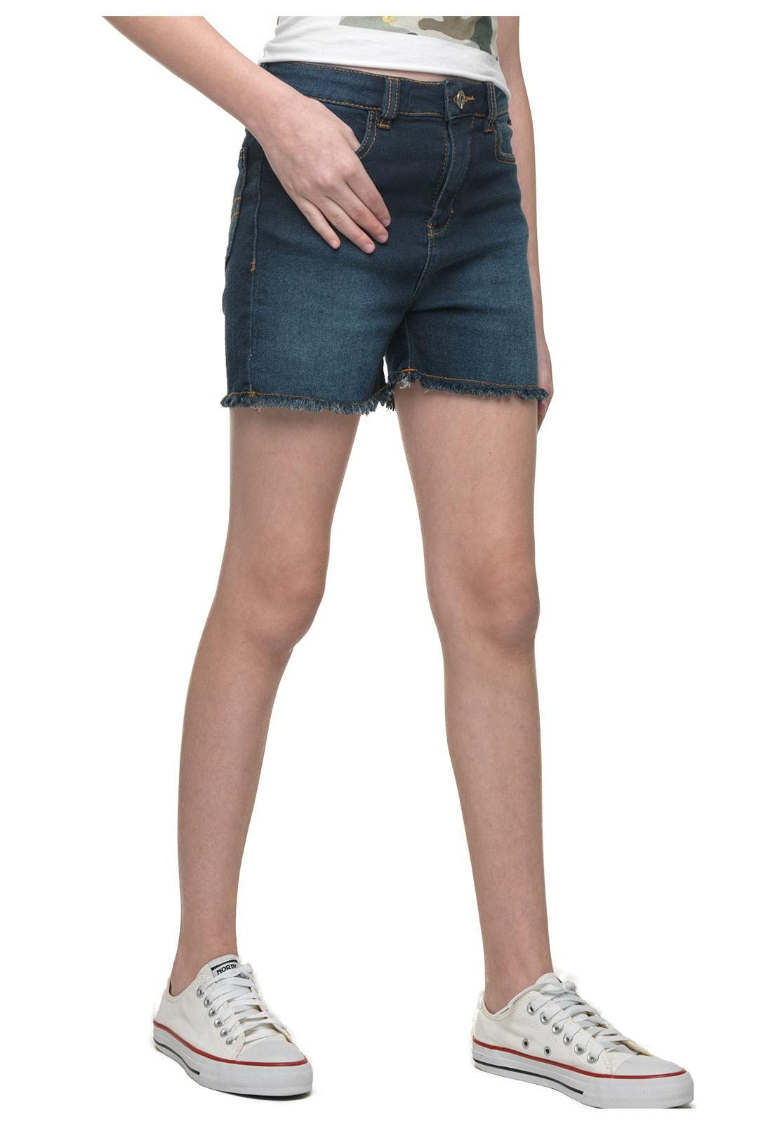 Shorts Jeans Moletom Feminino Crawling