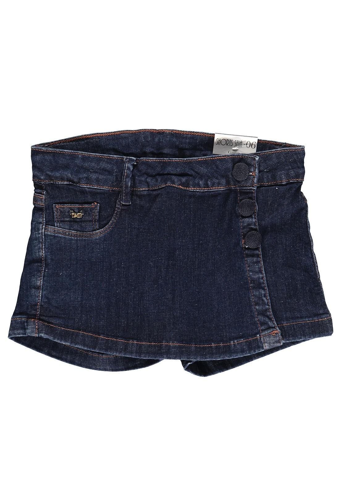 Shorts Saia Feminino Crawling Jeans