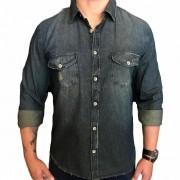 Camisa Ellus manga longa jeans