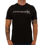 Camiseta Calvin Klein Jeans Mescla Institucional Manga Curta