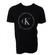 Camiseta CKJ est Logo Círculo preta