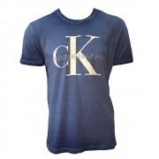 Camiseta CKJ MC Regular Logo Meia Seco