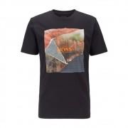 Camiseta Hugo Boss de malha de algodão com estampa gráfica sem PVC