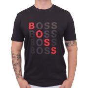Camiseta Hugo Boss Manga Curta Estampa Centralizada