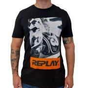 Camiseta Replay Estampada