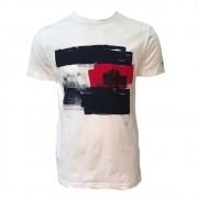 Camiseta Tommy Hilfiger com estampa branca