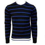 Tricô Calvin Klein Jeans Listrado Preto com Azul