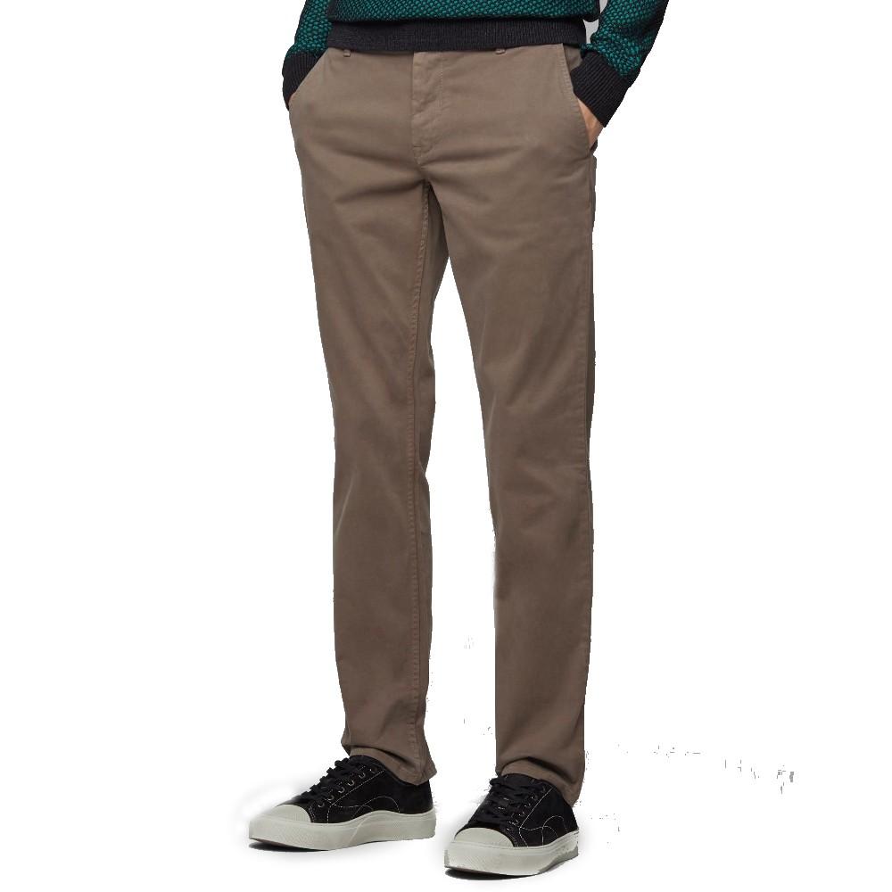 Calça Hugo Boss casual de corte regular em algodão elástico escovado