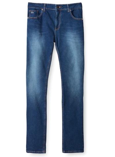 Calça Jeans Lacoste Azul Médio