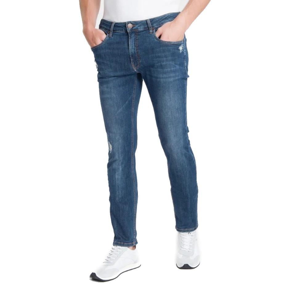 Calça Jeans CKJ Premium Stretch-Marinho