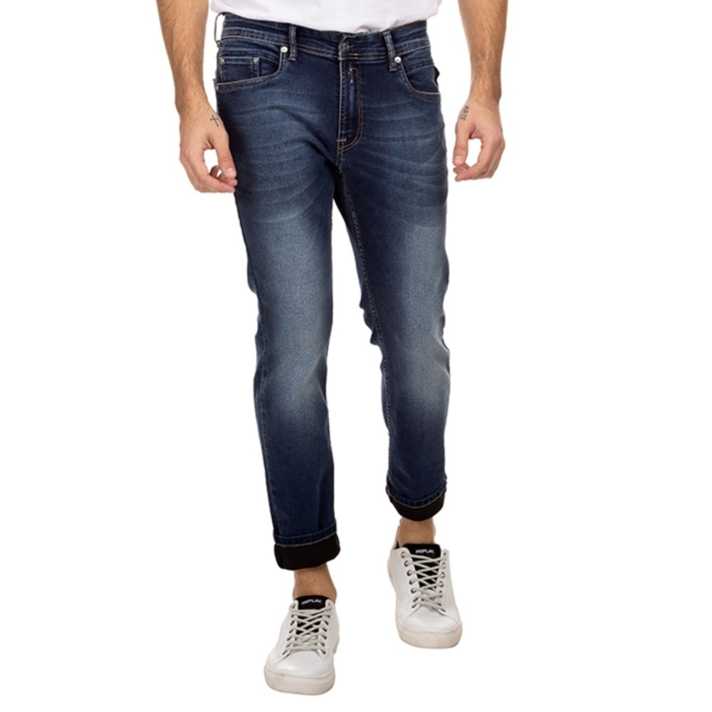 Calça jeans replay jondrill super skinny blue escuro