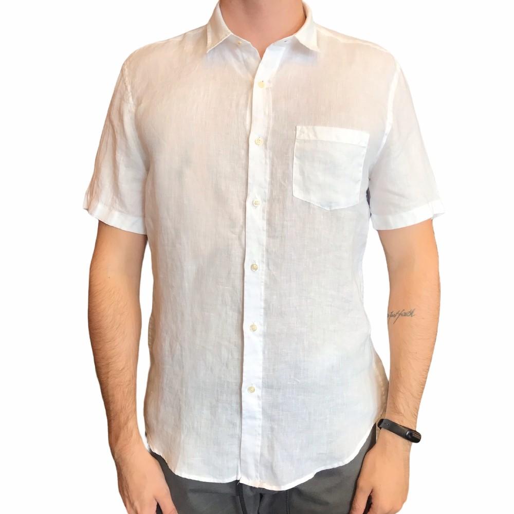 Camisa de Linho Pineapple Manga Curta