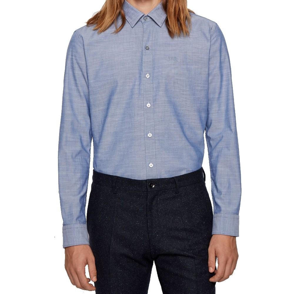 Camisa Hugo boss  justa em algodão Oxford elástico