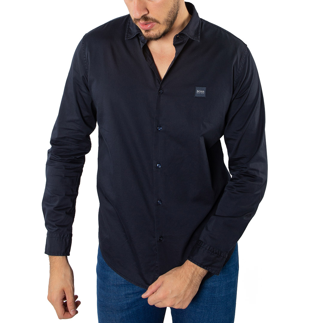 Camisa Hugo Boss Lisa Manga Longa Slim