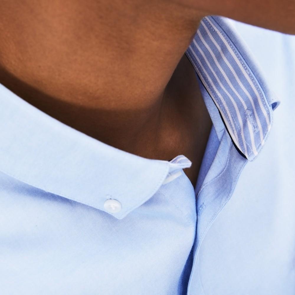 Camisa Lacoste masculina Slim Fit em algodão com stretch