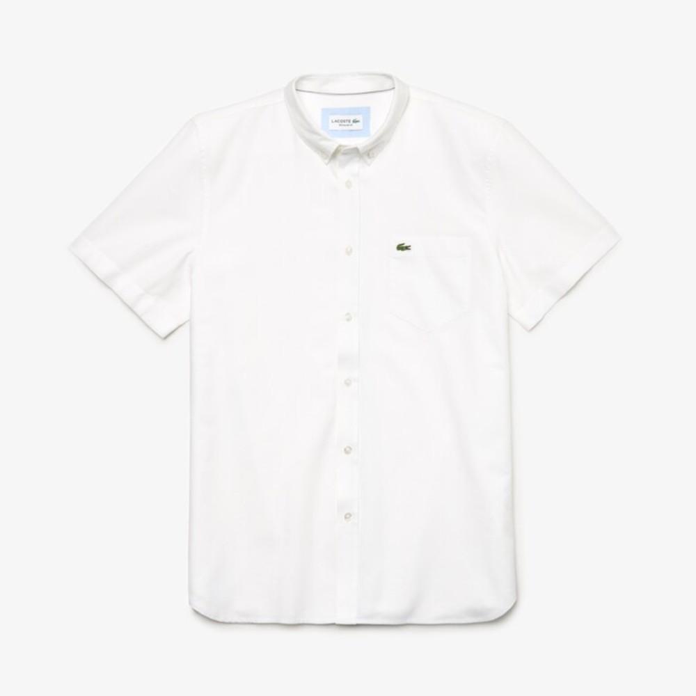 Camisa Lacoste Regular Fit em algodão Oxford