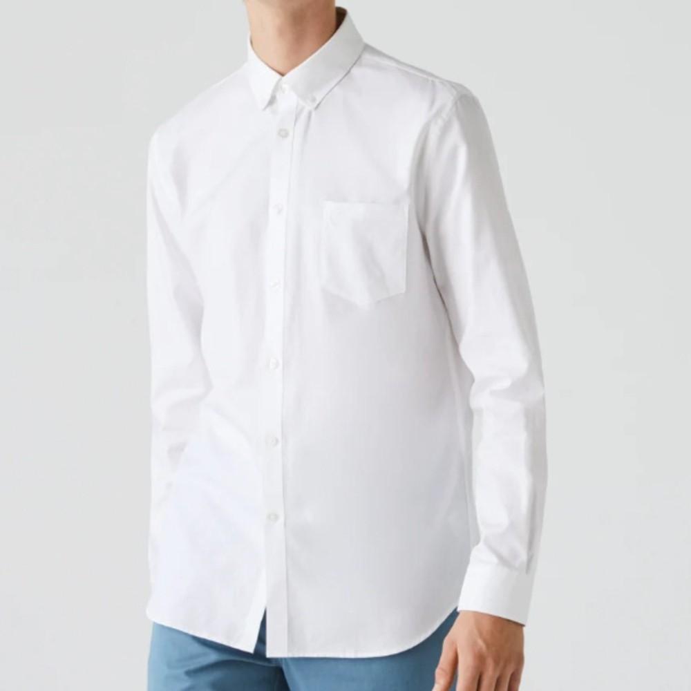 Camisa Lacoste Regular Fit Masculina em Minipiquet