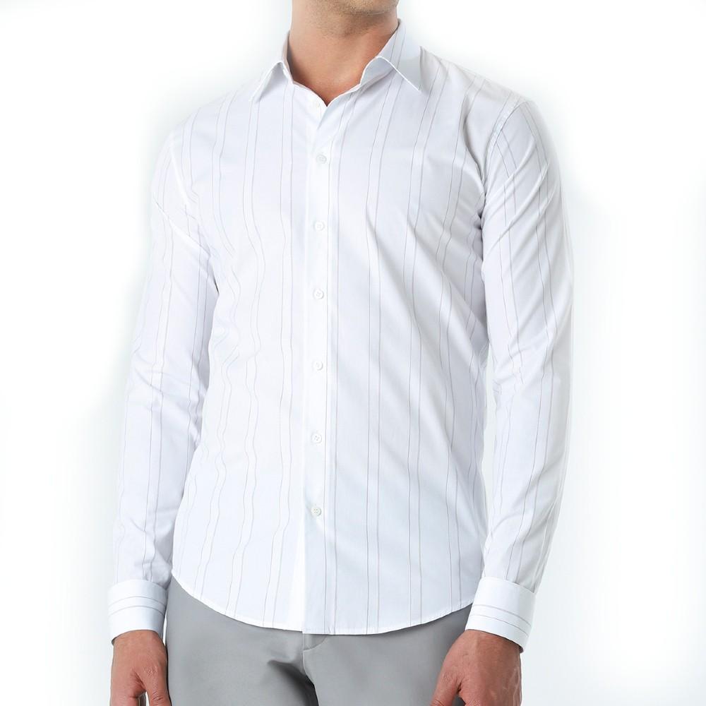Camisa Ricardo Almeida Pacino Listrada Branca