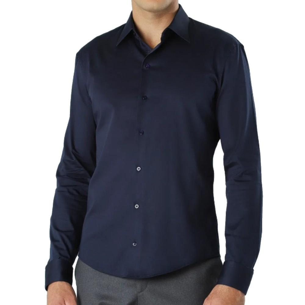 Camisa Ricardo Almeida Topcd azul marinho