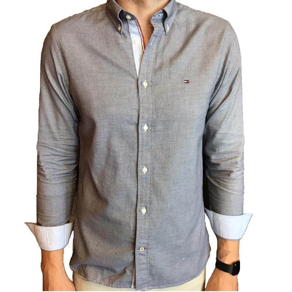 Camisa Tommy Hilfiger com micro estampa