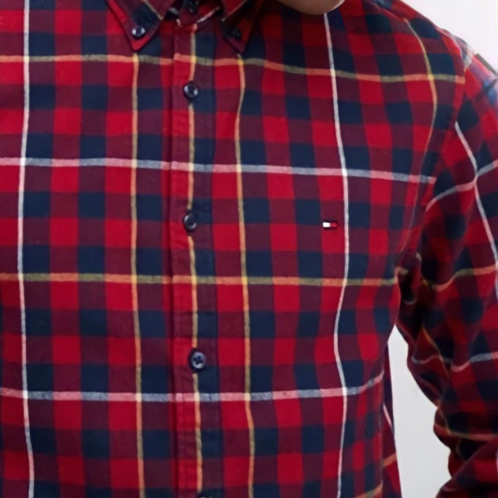 Camisa Tommy Hilfiger slim small tartan check
