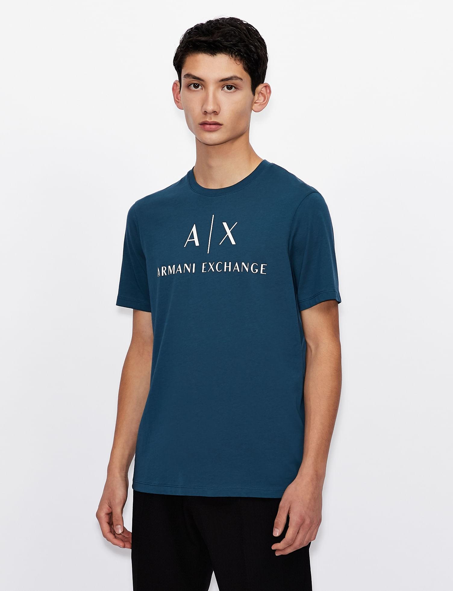 Camiseta Armani Exchange Slim Fit Com Logo