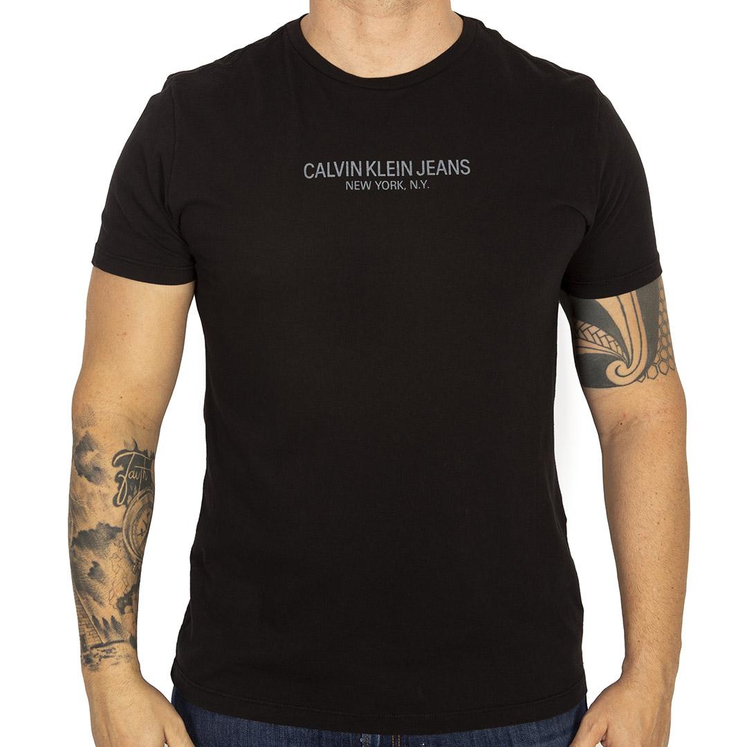 Camiseta Calvin Klein Jeans Regular Frase Meia Reat