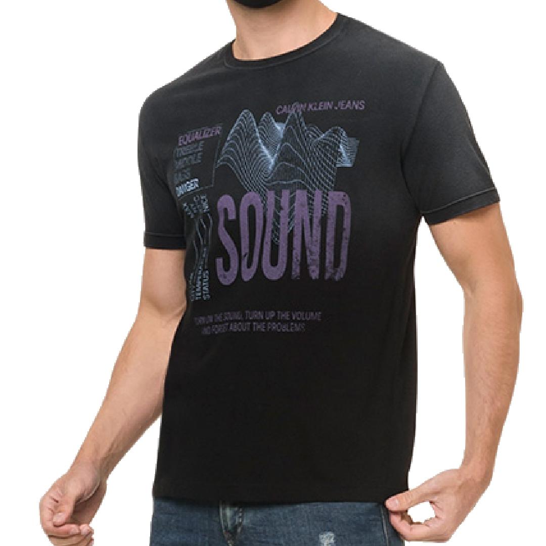 Camiseta Calvin Klein Jeans Sound Manga Curta