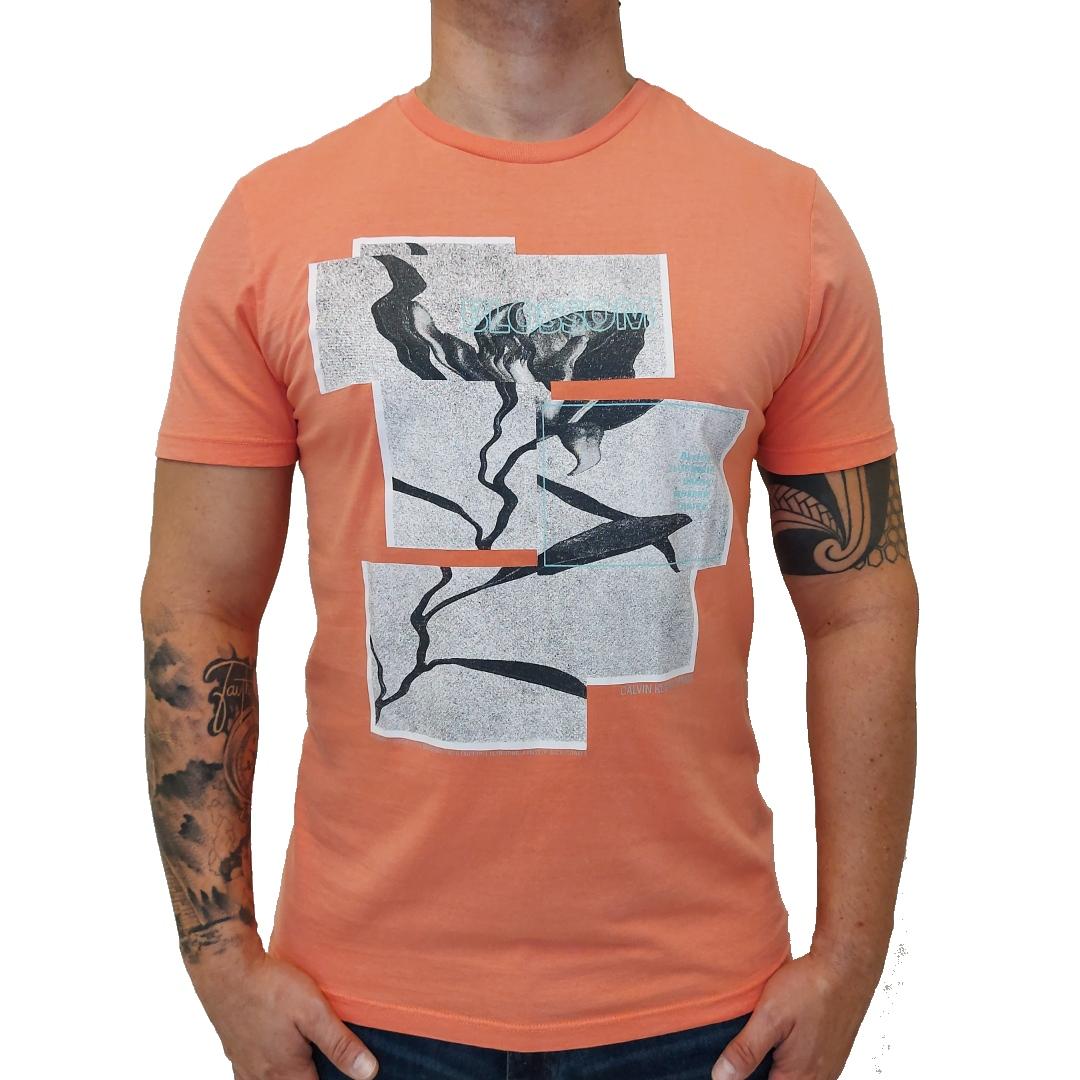 Camiseta CKJ MC Blossom Papaya
