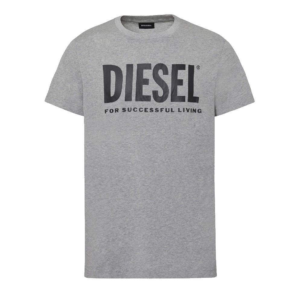 Camiseta Diesel T-DIEGO-LOGO cinza
