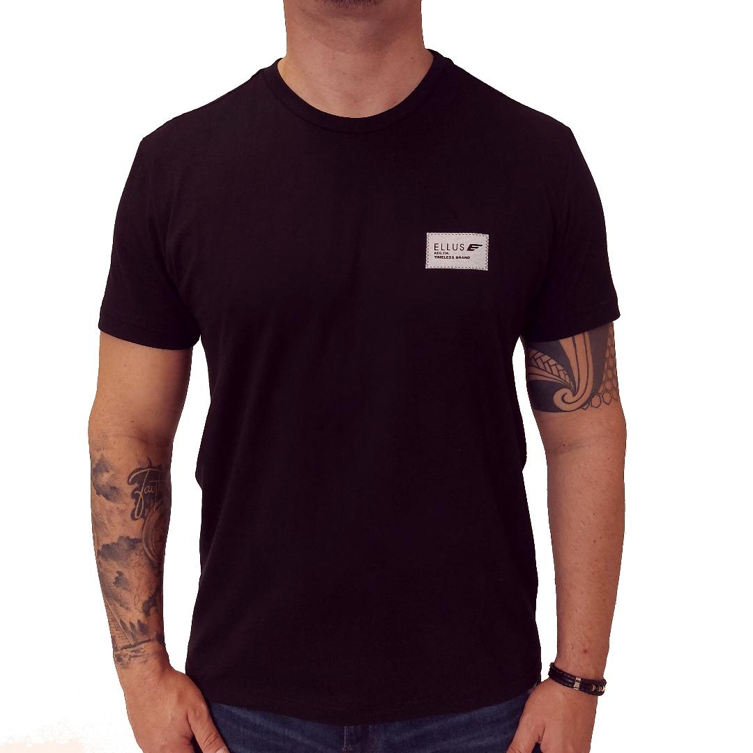 Camiseta Ellus Cotton Fine Timeless Brand Classic Mc