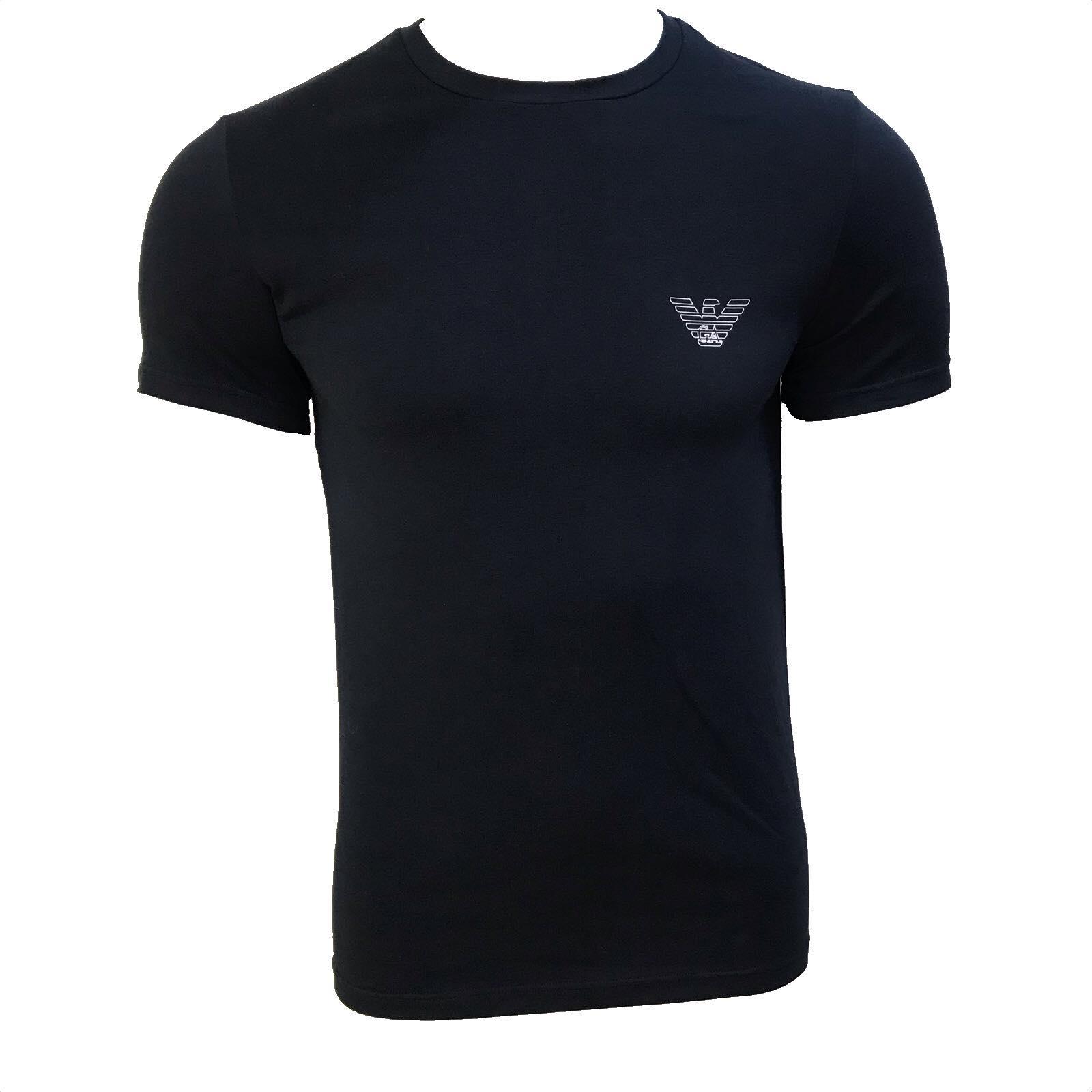 Camiseta Emporio Armani Underwear Básica Azul Marinho