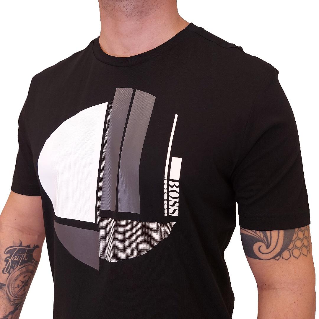 Camiseta Hugo Boss Manga Curta Auto Relevo