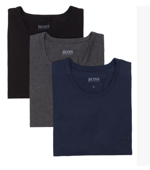 Camiseta Hugo Boss  Pack com 03