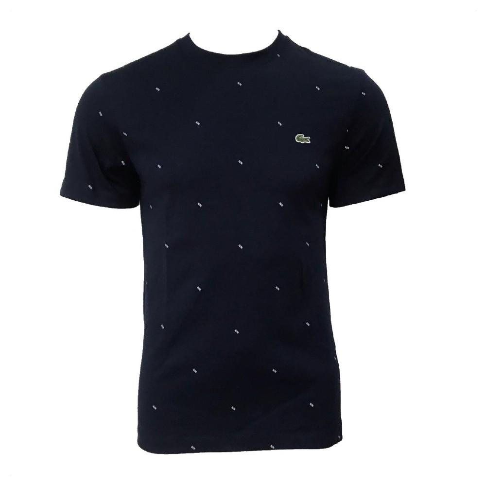 Camiseta Lacoste Azul Marinho com detalhes