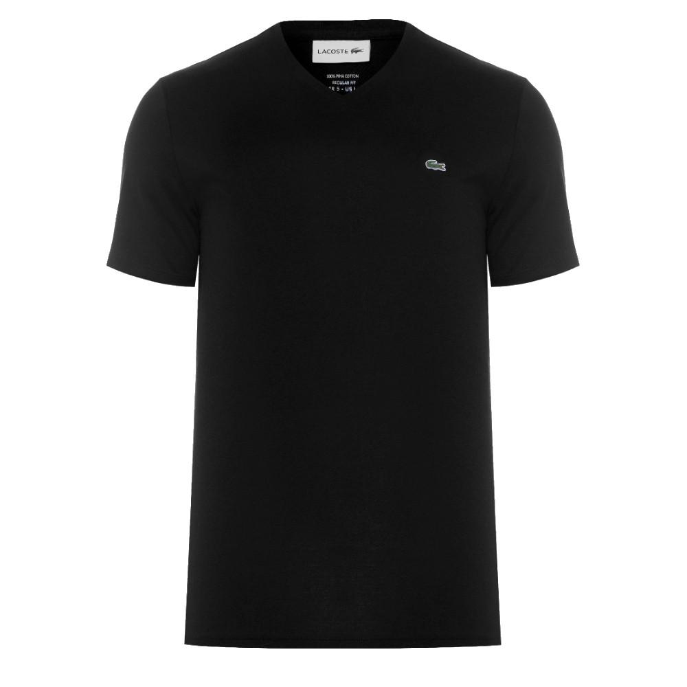 Camiseta Lacoste Masculina em Jérsei de Algodão Pima com Gola V