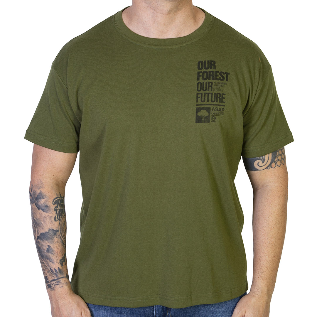 Camiseta Osklen Big Shirt Our Future - Verde