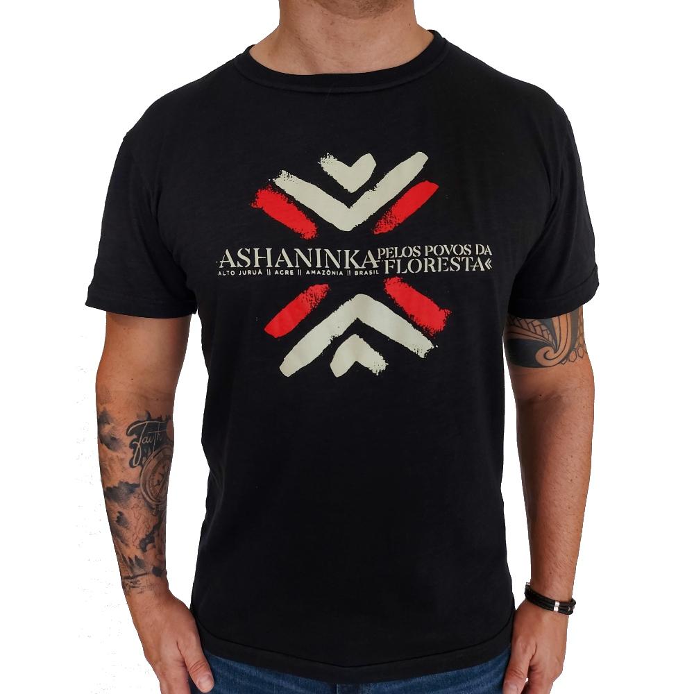 Camiseta Osklen Organic Rough Ashaninka Manga Curta