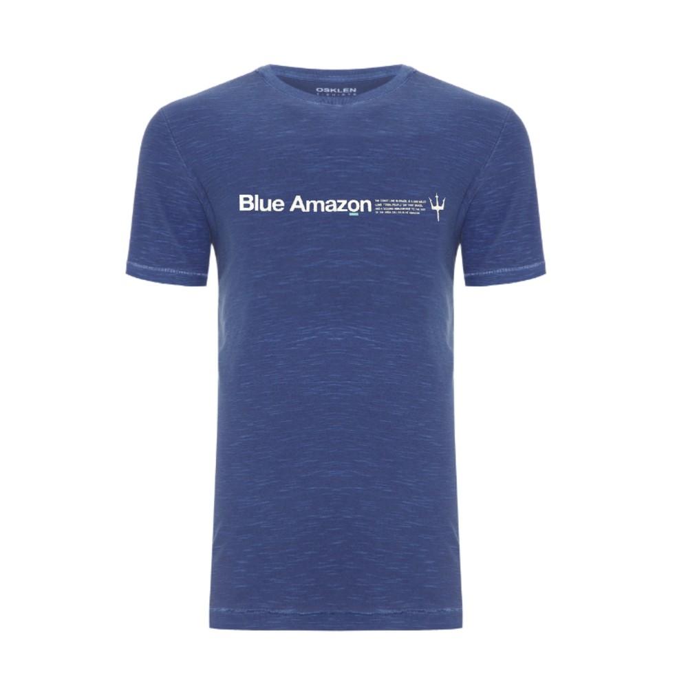 Camiseta Osklen rough blue amazon