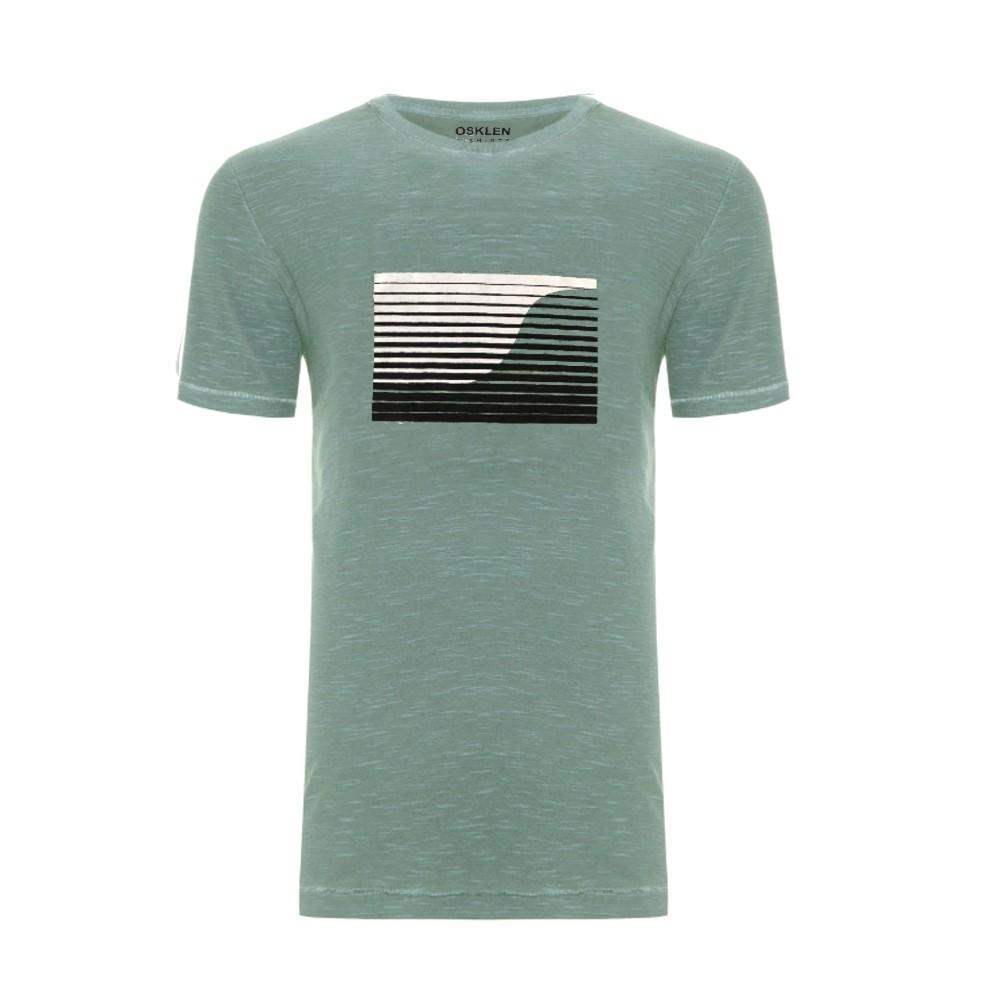 Camiseta Osklen rough graphic wave