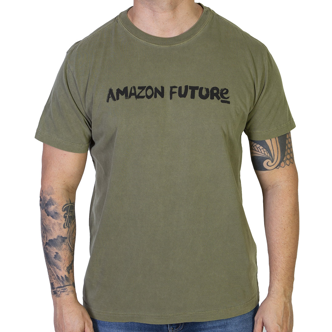 Camiseta Osklen Stone Amazon Future - Verde