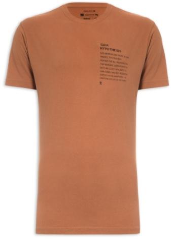 Camiseta Osklen Vintage Gaia Hypothesis - Marrom