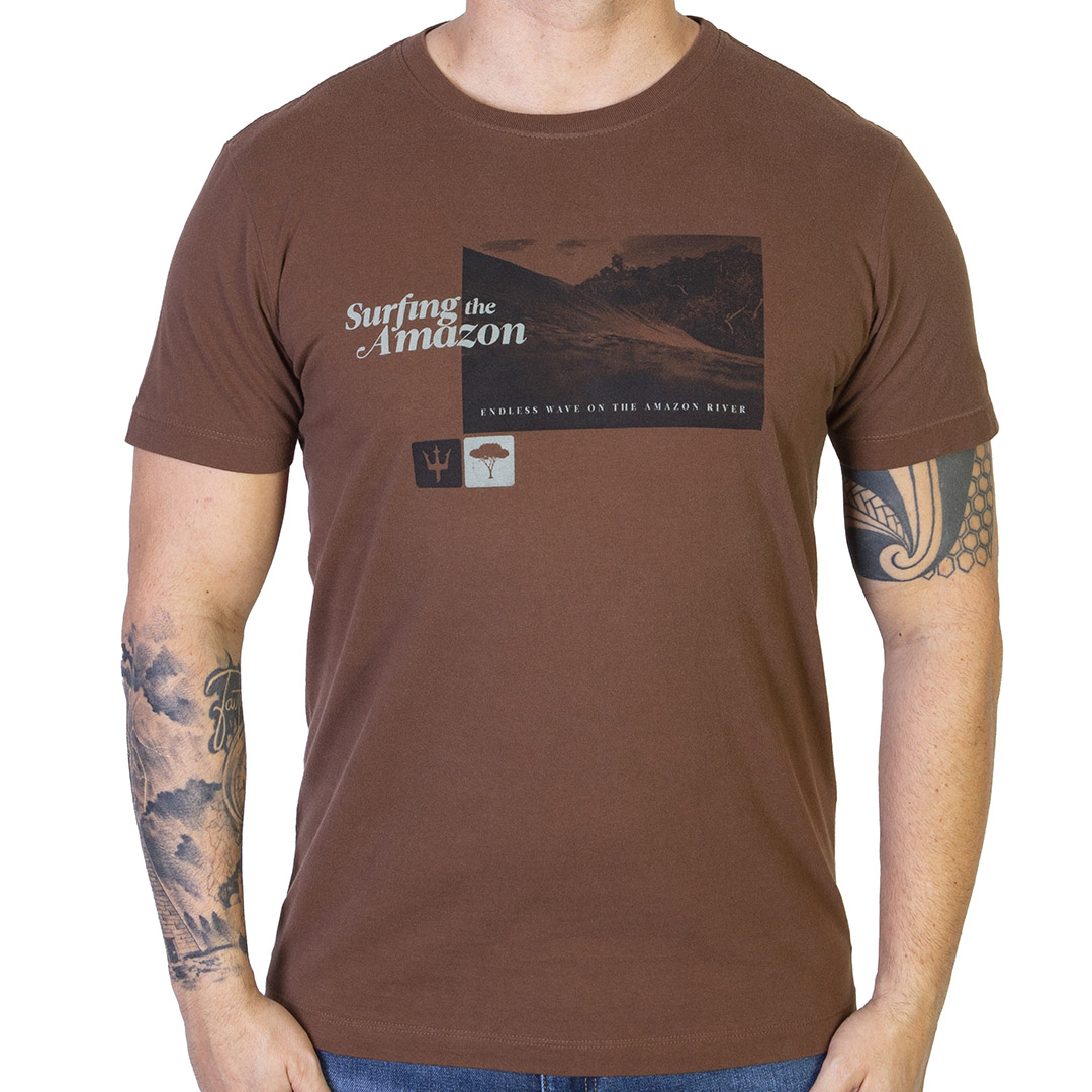 Camiseta Osklen Vintage Surfing The Amazon - Marrom