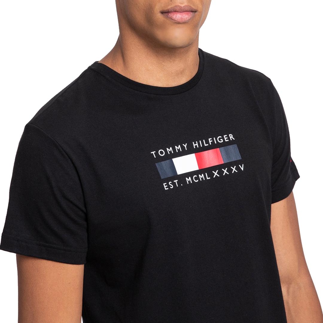 Camiseta Tommy Hilfiger institucional Manga Curta