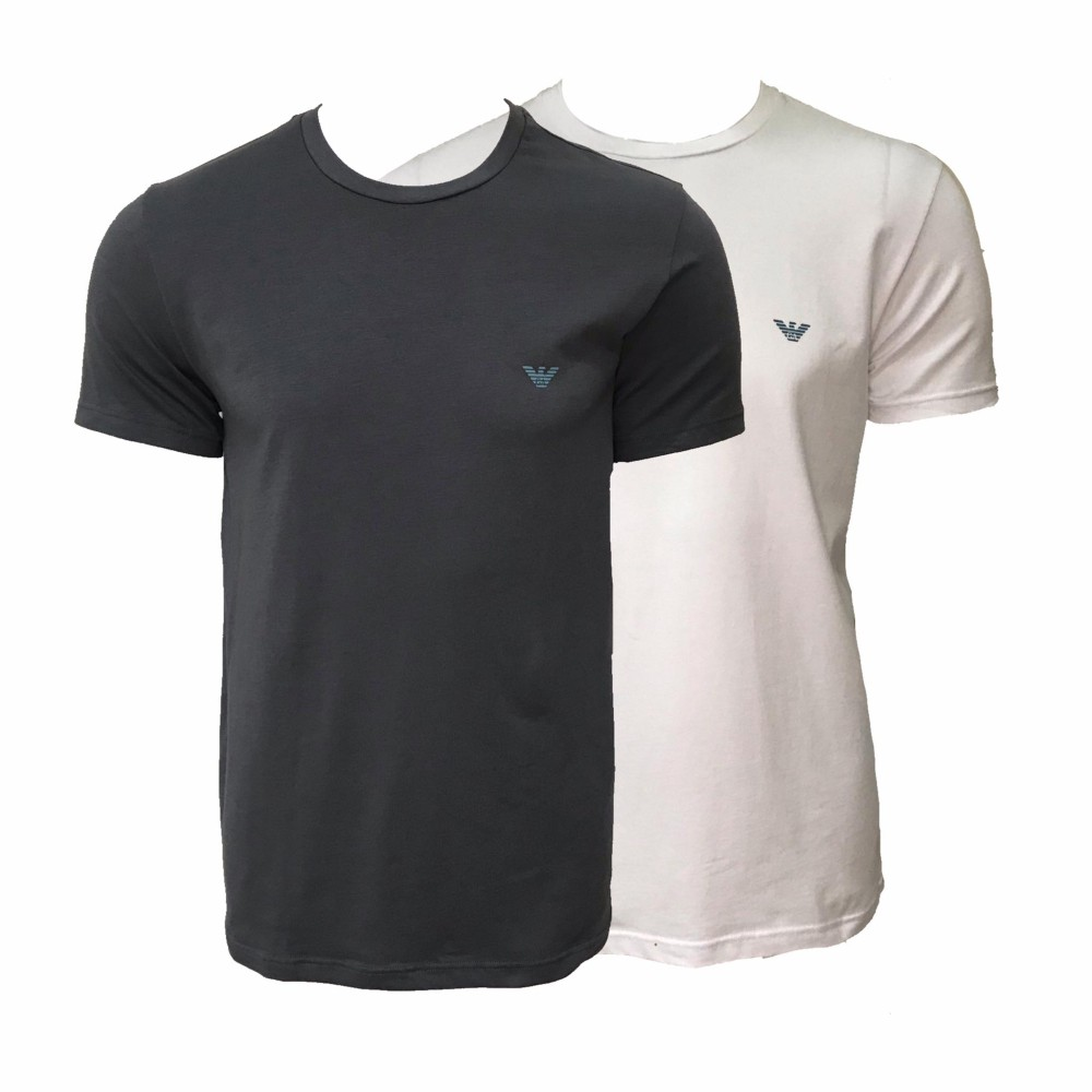 Emporio Armani Underwear 2 Pack Crew Neck T-shirt Stretch Cotton