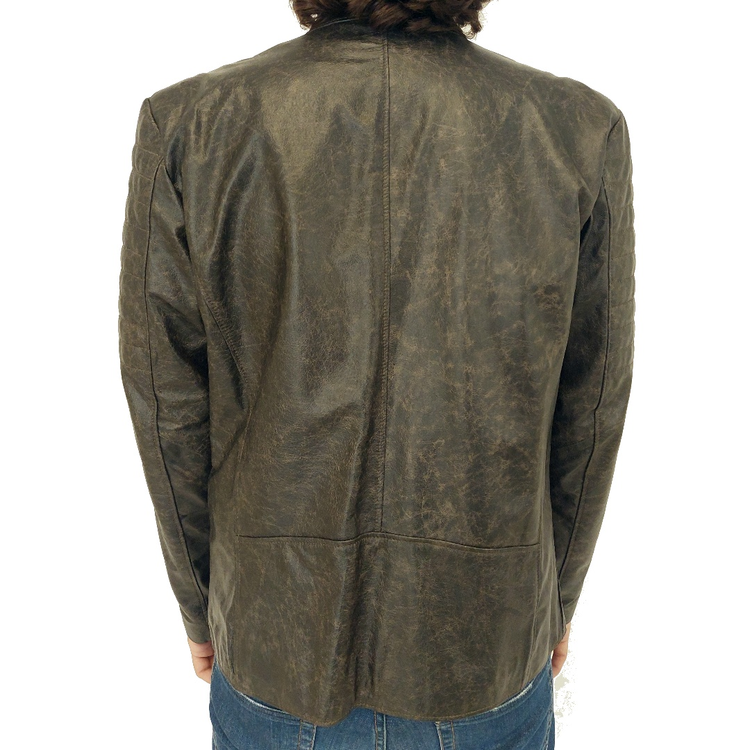 Jaqueta de couro Quadra 10 378AMP