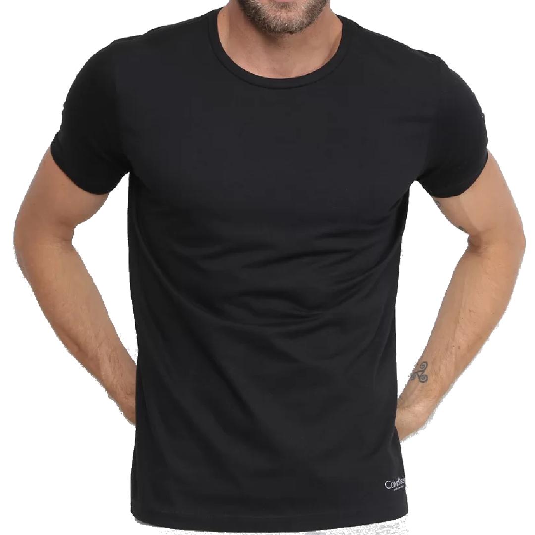Kit 2 Camisetas Calvin Klein Gola Careca