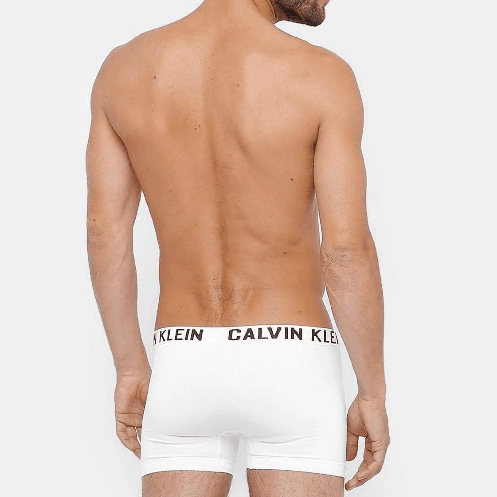 Kit Cueca Boxer Calvin Klein Trunk sem Costura 2 peças - Branco e Preto
